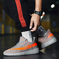 Men's Comfort Shoes Winter Sporty / Casual Athletic Daily Outdoor Trainers / Athletic Shoes Running Shoes Mesh Breathable Non-slipping Wear Proof Booties / Ankle Boots Black and White / Orange