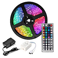 cheap -ZDM 5M LED Strip Lights Waterproof RGB Tiktok Lights 300 x 2835 8mm Flexible and IR 44Key Remote Control  Linkable Self-adhesive Color-Changing