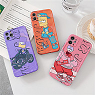 Simpson Case For iPhone 11 Pro MAX XS XR 7 8 Plus se 2020 Stitch snow White Mermaid Silicone Soft Back Cover Case Coque