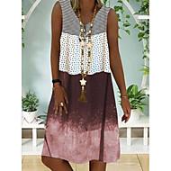 Women's A-Line Dress Knee Length Dress - Sleeveless Color Block Summer Casual Chinoiserie 2020 Blue Purple Brown Gray S M L XL XXL XXXL
