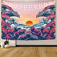 abordables -Kanagawa wave ukiyo-e tapiz de pared arte decoración manta cortina colgante hogar dormitorio sala de estar decoración pintura japonesa estilo amanecer puesta de sol paisaje