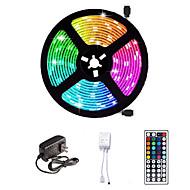 economico -Striscia led 16.4ft 5m smd 5050 rgb 300leds 10mm strisce illuminazione flessibile cambio colore con 44 tasti telecomando ir ideale per cucina di casa tv natale luci posteriori dc 12v