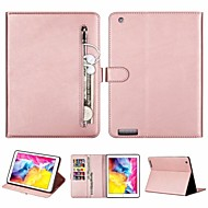 cheap -Case For Apple iPad Air / iPad 4/3/2 / iPad (2018)/(2017)  Wallet / Card Holder / Flip Full Body Cases Solid Colored PU Leather for iPad Air 2 / iPad 10.2 / 10.5 / iPad Pro 10.5