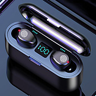 cheap -LITBest F9-8 TWS Wireless Earbuds 2000mAh Charging Box Power Bank Automatic Pairing Touch Control Bluetooth5.0 IPX7 Waterproof LED Power Display Stereo Headset Can Be Used As A Mobilephone Holder