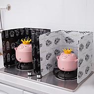 abordables -aluminio cocina plegable cocina de gas placa deflectora sartén aceite pantalla de protección contra salpicaduras accesorios kichen