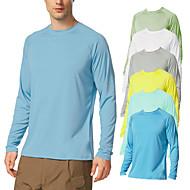 cheap -21Grams Men's Long Sleeve T-Shirt Sun Protection UPF 50+ UV Outdoor Dri-fit T-Shirt Rashguard Shirts for Cycling Running Fishing Hiking
