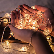 cheap -50 LED Crystal Balls String Lights 5M LED String Lights Outdoor String Lights Battery Powered Fairy Light Waterproof Outdoor Garden Christmas Wedding Party Courtyard Decoration Lamp without Battery
