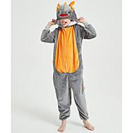 Kid's Kigurumi Pajamas Dragon Onesie Pajamas Flannel Fabric Orange Cosplay For Boys and Girls Animal Sleepwear Cartoon Festival / Holiday Costumes / Leotard / Onesie