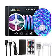 abordables -Mashang 20m LED bandes lumineuses RVB Tiktok lumières 1200leds changement de couleur flexible SMD 2835 avec 44 touches télécommande IR et adaptateur 100-240 V pour la maison chambre cuisine TV