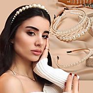 نسائي مجوهرات الشعر من أجل زفاف الذكرى السنوية حفلة / سهرة هدية الزفاف عيد ميلاد لؤلؤ البذور لؤلؤ لؤلؤ تقليدي سبيكة أبيض الرز أبيض وفضي أبيض 1PC