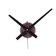 billige -veggklokke 3d klokke hender med klokke mekanisme& veggklistremerke veggdekorasjoner for stuehuskontor