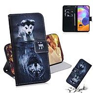 cheap -Case For Samsung Galaxy S20 Galaxy S20 Plus Galaxy S20 Ultra Wallet Card Holder with Stand Full Body Cases Wolf and Dog PU Leather TPU for Galaxy A51 A71 A70E A81 A91 A11 A31 A41 A21