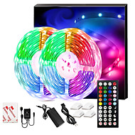 cheap -LED Strip Lights Music Sync 300LEDs 10M RGB LED Light Strip For Room Lighting SMD 5050 Color Changing Tape Lights Kit With LED Controller Flexible LED Strip For Home Kitchen DC12V
