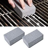 abordables -barbecue grill nettoyage brique nettoyage pierre 2 pcs