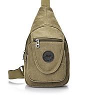 Муж. Мешки холст Слинг сумки на ремне для Повседневные / на открытом воздухе Черный / Военно-зеленный / Хаки