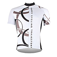 cheap -ILPALADINO Men's Short Sleeve Cycling Jersey Polyester White Yellow Red Bike Jersey Top Mountain Bike MTB Road Bike Cycling Breathable Quick Dry Ultraviolet Resistant Sports Clothing Apparel