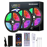 cheap -15M LED Strip Lights RGB LED Light Strip Music Sync LED Strip 5M 10M 20M 2835 SMD Color Changing LED Strip Light and 40 Keys Remote Bluetooth Controller for Bedroom Home TV Back Lights