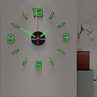 billige -veggklokke natt lysende diy akryl rund klassisk tema innendørs aa batterier drevet dekorasjon veggklokke