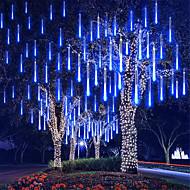 abordables -lumières de pluie tombantes lumières de douche météores lumières de noël 50cm 8 tube 240leds chute de pluie goutte de glace guirlande lumineuse pour arbres de noël décoration d'halloween mariage de