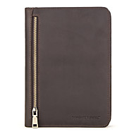 cheap -Case For Apple iPad Mini 5 4 3 2 1 Flip Full Body Cases Solid Colored Genuine Leather vintage soft smooth handle Card Holder Shockproof phone holder Tablet A5 notebook folder zipper pencil holder