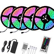 abordables -LOENDE 4x5M bandes lumineuses LED Ruban LED Flexibles Ensemble de Luminaires 1200 LED 5050 SMD 2835 SMD 8mm 1 set RGB Noël Nouvel An Créatif Découpable Décorative 12 V  Auto-Adhésives