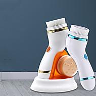 رخيصةأون -فرشاة غسيل الوجه ، فرشاة تنظيف ، جهاز غسل الوجه ، منظف المسام ، مقاوم للماء مع 4 رؤوس للفرشاة ، سرعتان متغيرة ، شحن USB ، فرشاة وجه دوارة مناسبة للتنظيف العميق