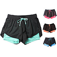 cheap -Women's Running Shorts Athletic Bottoms 2 in 1 Liner Drawstring Yoga Fitness Gym Workout Running Active Training Bodybuilding Breathable Quick Dry Sweat-wicking Sport Pink Orange Sky Blue Cyan Color