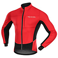 cheap -Men's Cycling Jacket Winter Fleece Polyester Bike Jacket Top Windproof Breathable Quick Dry Sports Patchwork Red / Blue Clothing Apparel Tailored Fit Bike Wear / Long Sleeve / Warm / Back Pocket