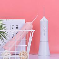 رخيصةأون -منظف الأسنان منظف الأسنان الكهربائية المحمولة منظف الأسنان بخيط المياه منظف قوي ونبض الضغط العالي لتنظيف الفم 800 مللي أمبير ipx7 مقاوم للماء