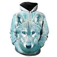 Men's Daily Pullover Hoodie Sweatshirt Graphic Hooded Casual Basic Hoodies Sweatshirts  Light Blue