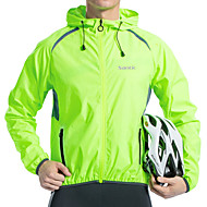 cheap -Men's Cycling Jacket Spandex Polyester Bike Jacket Top Windproof Breathable Quick Dry Sports Green Clothing Apparel Bike Wear / Long Sleeve / Reflective Strips / Back Pocket