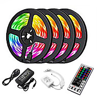 cheap -20m LED Strip Lights 1200 LEDs 2835 SMD RGB Light Strips Cuttable Linkable Suitable for Vehicles 100-240 V Self-adhesive IP44 4*5m