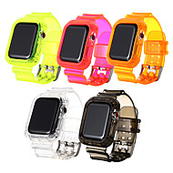 cheap -Watch Band for Apple Watch Series 5 4 3 2 1 Apple Sport Band PC TPE Wrist Strap Fluorescence