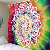 billige -mandala bohemisk veggteppe kunst dekor teppe gardin hengende hjem soverom stue sovesal dekorasjon boho hippie psykedelisk blomsterblomst lotus indisk