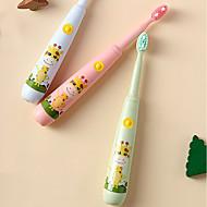 رخيصةأون -فرشاة الأسنان الكهربائية للأطفال كارتون فرشاة أسنان الأطفال usb شحن بالموجات فوق الصوتية الاهتزاز الذكية ipx7 للماء أربعة رؤوس فرشاة