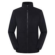 cheap -Men's Hiking Jacket Hiking Fleece Jacket Winter Outdoor Solid Color Thermal / Warm Windproof Breathable Warm Jacket Winter Fleece Jacket Top Fleece Single Slider Camping / Hiking Hunting Ski