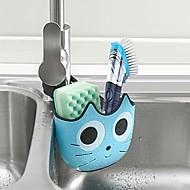 cheap -Sink Caddy Sponge Holder And Brush Holder Sink Strainer Accessories Organizer Non-slip No Drilling