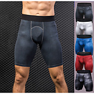 cheap -YUERLIAN Men's Sports Underwear Compression Shorts Sports & Outdoor Shorts Base Layer Briefs Spandex Fitness Gym Workout Exercise Lightweight Fast Dry Anatomic Design Plus Size Sport White Black Red