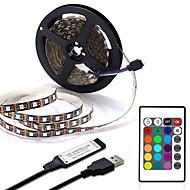 billige -usb led stripe 1m 2m 3m 4m mini 24key fleksibel lyslampe skrivebord dekor skjerm tv bakgrunnsbelysning