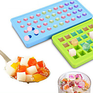cheap -Creative 40 Hole Round Ice Hockey Silicone Small Ice Hockey Mold Ice Tools Full Body Silicone Cute Party Evening Drinkware Random Color