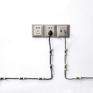 economico -20 pz / lotto morsetto linea solida clip per cavo usb supporto organizer clip di fissaggio per filo clip per cavi fissi