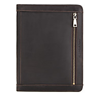 cheap -Case For Apple iPad PRO 2019 2020 10.2 10.5 11 inches Full Body Cases Solid Colored Genuine Leather vintage soft smooth handle pencil cable note book card holder bill slot cellphone shockproof zipper