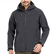 cheap -Men's Softshell Jacket Hiking Jacket Winter Outdoor Solid Color Windproof Fleece Lining Breathable Warm Jacket Top Softshell Hunting Fishing Camping / Hiking / Caving Dark Grey / Black / Red / Army
