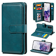 cheap -Case For Samsung Galaxy A21 A21S A31 A41 A51 5G A71 5G A51 A71 M31 Note 20 Card Holder Full Body Cases Solid Colored PU Leather