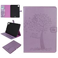 זול -נרתיק לאפל ipad mini 1 2 3 ipad mini 4 מחזיק כרטיס ipad mini 5 עם דפוס מעמד גוף מלא מקרי עץ עץ עור pu
