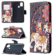 cheap -Case For Samsung Galaxy A21S Note 20 A31 A70E A41 A11 M11 A01 A21 S20 S20 Plus S20 Ultra A51 A71 Card Holder Flip Full Body Cases Animal Tree Flower PU Leather