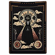 cheap -wizard skull tapestry tarot solar iris tapestry sun and moon tapestries black chakra tapestry stars and cloud tapestry for room & #40;51.2 x 59.1 inches& #41;