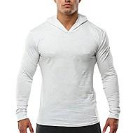 heren bodybuilding taps toelopende slim fit sweatshirts v-hals active hoodies wit 3xl