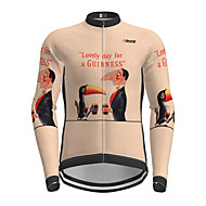 cheap -21Grams Men's Long Sleeve Cycling Jersey Winter Khaki Bird Bike Jersey Top Mountain Bike MTB Road Bike Cycling Quick Dry Sports Clothing Apparel / Micro-elastic / Athleisure