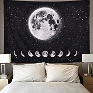 cheap -moon lunar eclipse tapestry, galaxy night sky tapestry starry space tapestry universe stars sky tapestry planet tapestry for living room bedroom